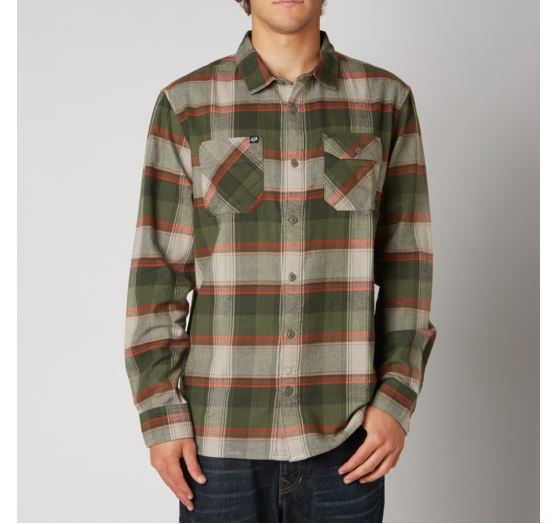 n1shop-Kosile-Fox_Pánská košile Fox Racing Jagger Ls Flannel Stone