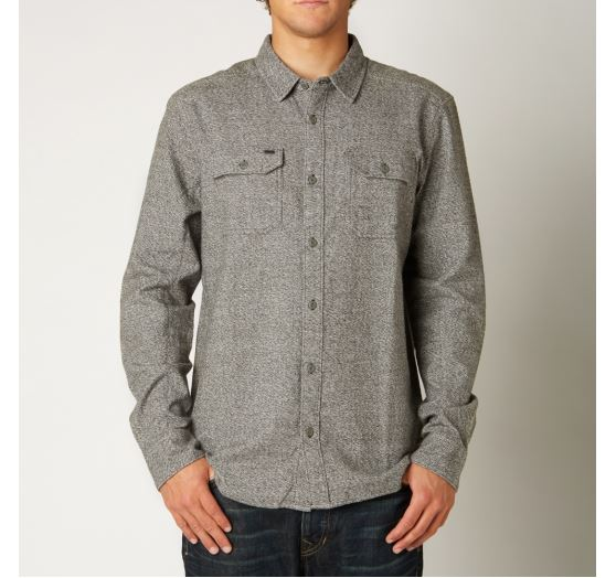 n1shop-Kosile-Fox_Pánská košile Fox Racing Silt Ls Flannel Black