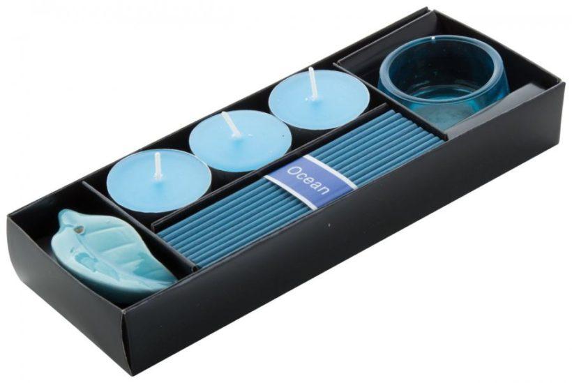 Aroma set v černé dárkové krabičce s 10 vonnými tyčinkami